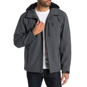 Free Country Mens Fleece Lined Hooded Jacket [A13]